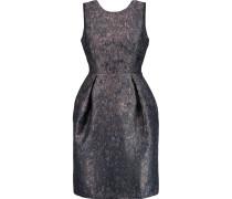 Metallic Jacquard Dress Rauchblau