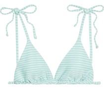 Avery Strukturiertes Triangel-bikini-oberteil mit Streifen