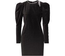 Ziane Crystal-embellished Velvet Mini Dress