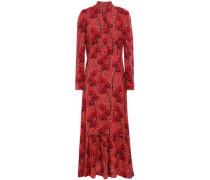 Rafaela Tiered Crepe Maxi Dress Papaya Size 12