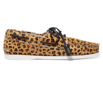 Harpsden Leopard-print Calf Hair Boat Shoes Leoparden-Print