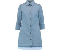 Bacall Denim Mini Shirt Dress Heller Denim
