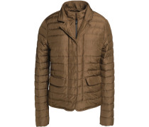 Egina Quilted Shell Down Jacket Armeegrün