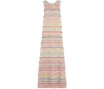 Metallic Crochet-knit Maxi Dress Mehrfarbig