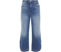 Joan Hoch Sitzende Jeans mit Weitem Bein in ausgewaschener Optik
