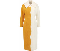 Holly Two-tone Woven Coat Creme