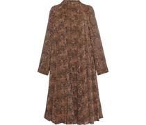Kleid aus Georgette mit Leopardenprint