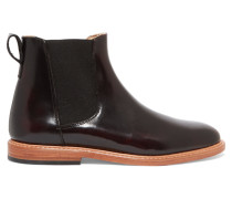 Leather Ankle Boots Burgunder