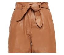 Donte Shorts aus Leder mit Gürtel