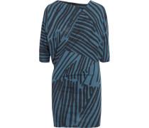 Coop Printed Cotton Mini Dress Blau