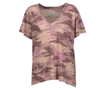 The V Neck Printed Cotton-jersey T-shirt Altrosa