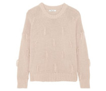 Tasseled cotton sweater