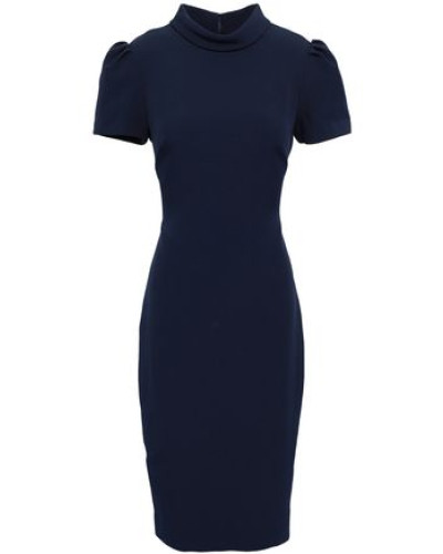 Stretch-crepe Dress Navy Size 12