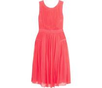 Letty plissé silk-chiffon dress
