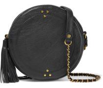 Remi Tasseled Textured-leather Shoulder Bag