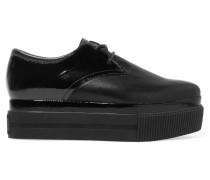 Katia Leather Paneled Platform Sneakers Schwarz