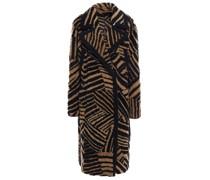 Tiger-print Shearling Coat