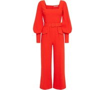 Patrice Belted Textured-crepe Wide-leg  Jumpsuit