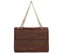 Textured patent-leather shoulder bag