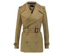Townie Belted Cotton-twill Trench Coat Armeegrün