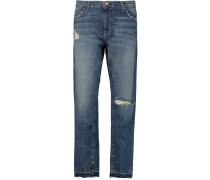 The Unrolled Fling Mid-rise Boyfriend Jeans Dunkler Denim