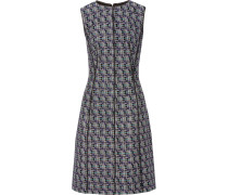 Textured Cotton And Wool-blend Dress Schwarz