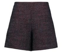 Bouclé-tweed Shorts Burgunder