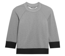 Gail Cotton-blend Jersey Sweatshirt Grau