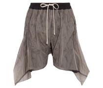 Flared Mesh Shorts Champignon