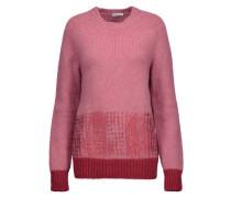 Metallic alpaca-blend sweater