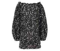 Gloria Schulterfreies Minikleid aus Lametta mit Pailletten