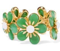 Gold-plated Resin Bracelet Grün