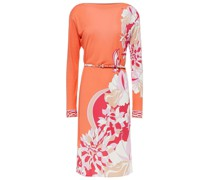 Belted Printed Jersey Dress