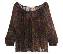 Katarina crinkled printed georgette blouse