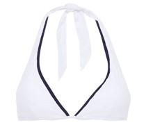Embroidered Triangle Bikini Top