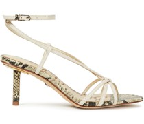 Pippa Smooth And Snake-effect Leather Sandals