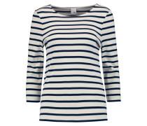 Madeline Breton Striped Cotton Top Wollweiß