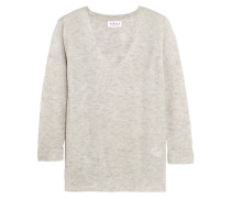 Ribbed Cashmere Sweater Hellgrau