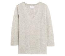 Ribbed Cashmere Sweater Hellgrau
