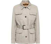 Field Jacket aus Baumwoll-gabardine mit Gürtel