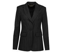 Calla Pinstriped Wool-blend Blazer Schwarz