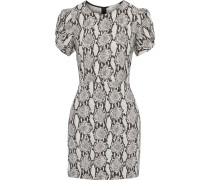 Brinley Twisted Snake-print Cady Mini Dress