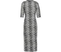 Snake-print Stretch-jersey Midi Dress