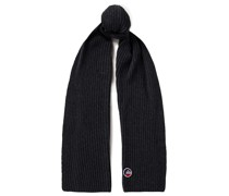Griaz Ii Ribbed Merino Wool And Cashmere-blend Scarf