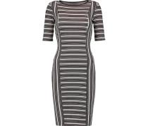 Mansour Gate Ribbed Printed Jersey Dress Braun