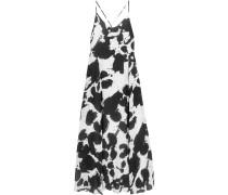 Alejandra Printed Silk-chiffon Maxi Dress Schwarz