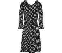 Ruffle-trimmed Floral-print Crepe Wrap Dress