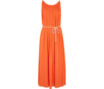 Liv Crepe Midi Dress Orange