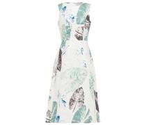 Flared Printed Stretch-cotton Midi Dress