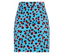 Leopard-print Cotton-blend Twill Mini Skirt